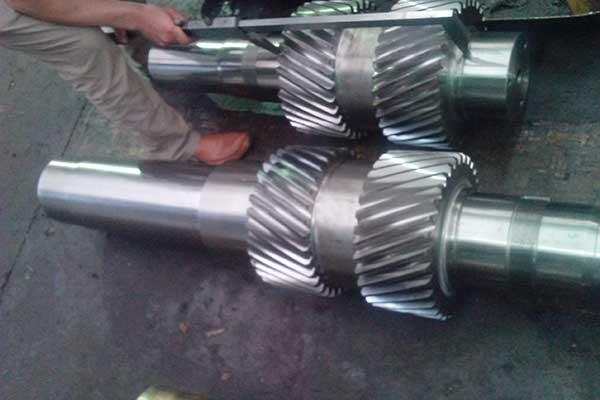 Herringbone-gearshaft