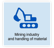 Mining industry and handling of material