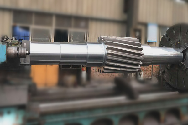forged alloy steel gear shaft for ball mill
