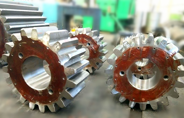 large module tooth gear for ball mill