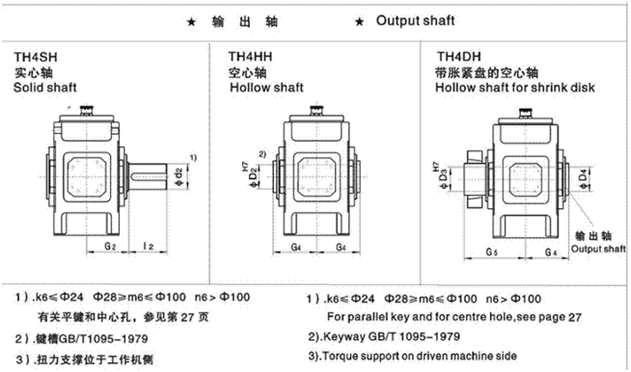 Type:TH4.H parallel shaft reducer