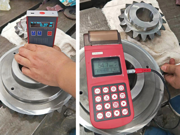 Hardness and surface roughness test